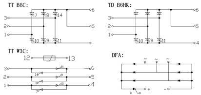 产品简介 三社可控硅模块/三社整流桥模块/因达整流桥模块dfa50ba80