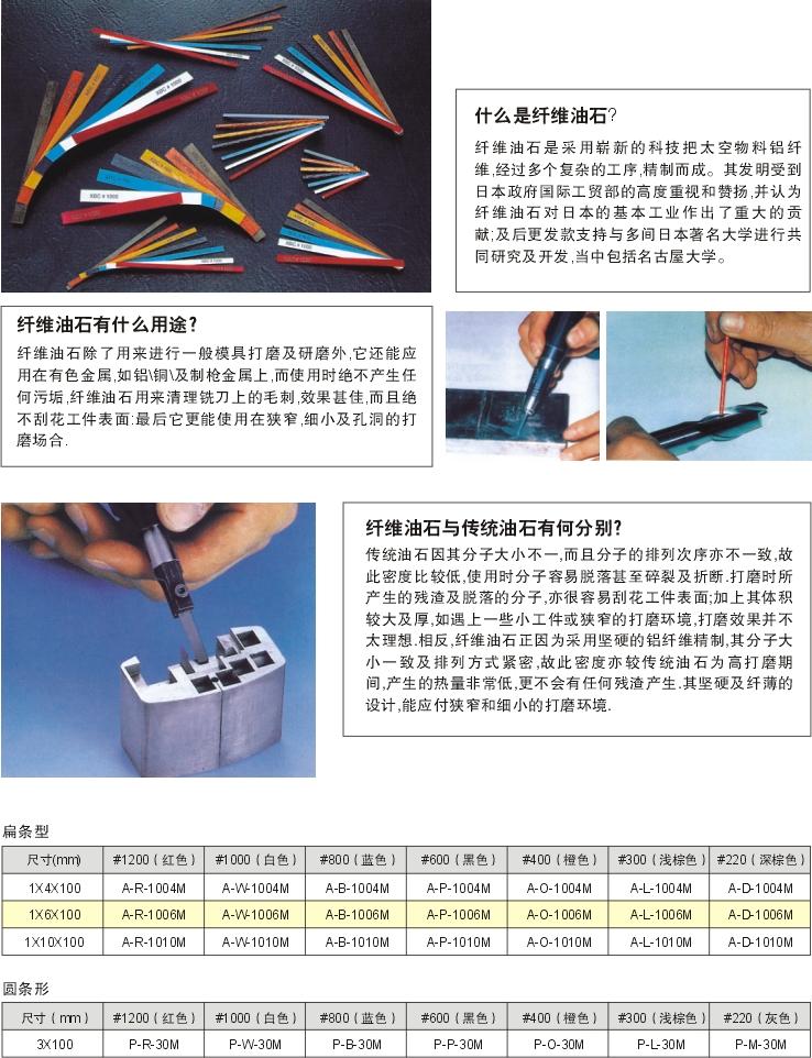 XEBEC陶瓷纤维研磨油石