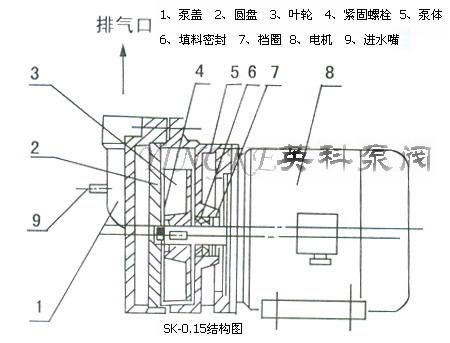 15直联式水环式真空泵结构图