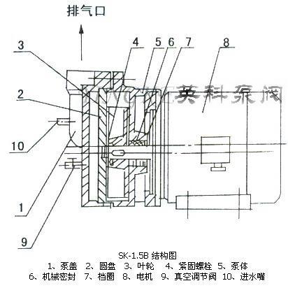 sk-1.5b直联式水环式真空泵结构图