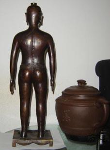 仿古針灸銅人|銅人針灸模型(真銅全銅 45CM **小型)