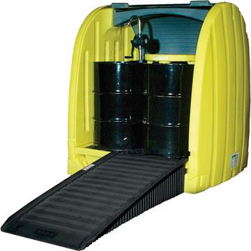 可存储4个55加仑(210升)油桶或化工原料桶