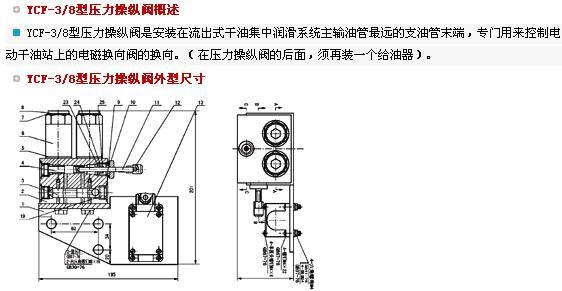 YCF-3/8型压力操纵阀