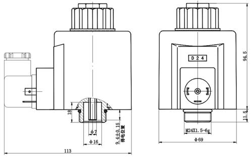 产品目录 液压附件 >>>  电磁铁线圈         产品型号:mfz9a-55yc