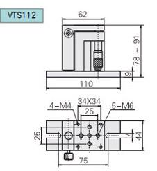 VTS112型手動升降臺