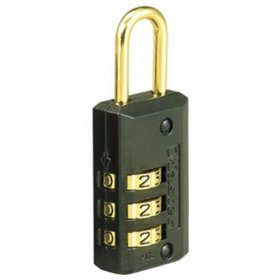 Master Lock 646D Luggage Lock, Set Your Own Combination 1-Pack Black Finish