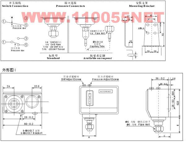 HLP503 HLP506 HLP506M HLP110 單壓壓力控制器