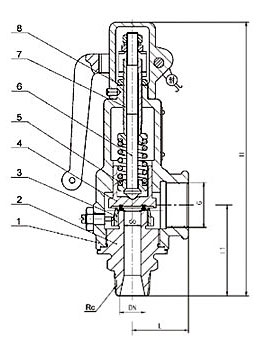 A28H/W带手柄弹簧全启式安全阀