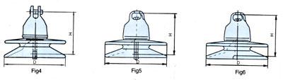 悬式绝缘子 XP-40C   X-4.5  X-4.5C  XP-70