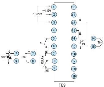 te9温控器|toky东崎te9经济型pid温控器 接线图