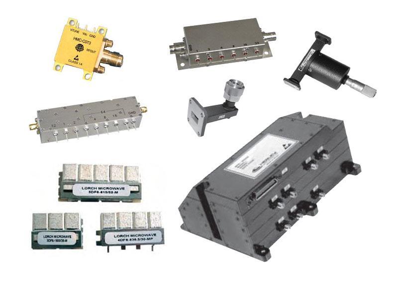 衰减器,倍频器,分频器,振荡器,滤波器,移相器,功放模块等各类组件及模