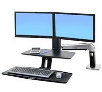爱格升24-392-026 WorkFit-A 双显示器悬浮式键盘 WorkFit-A
