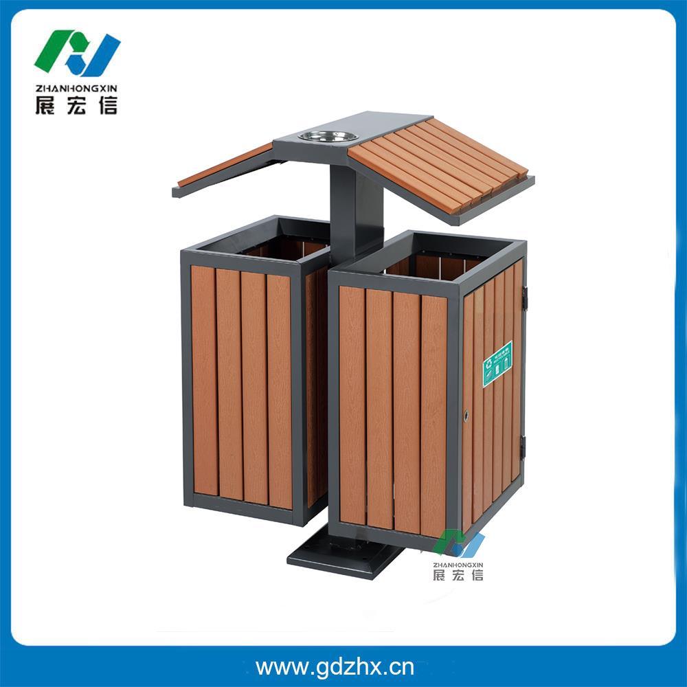 分类环保垃圾桶(塑木,gpx-107s)