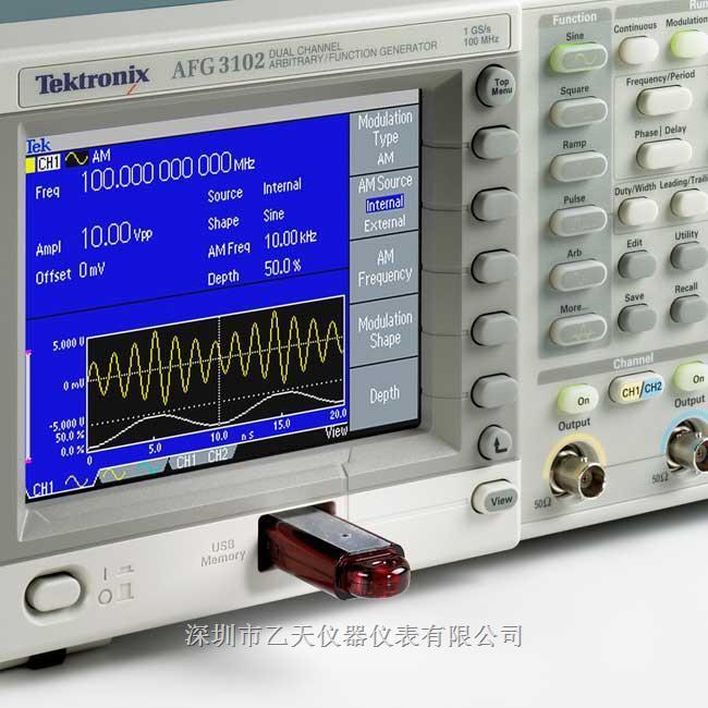 AFG3021B泰克函数信号发生器 类型:函数信号发生器 品牌:美国泰克 型号:AFG3021B 频率:- 2 mHz-1.000 MHz。(MHz) 电平:见说明(V) 外形尺寸:156.3×329.6×168(mm) 重量:5.9(kg) 产品概述 无可比拟的性能、通用性、直观的操作和经济性,使AFG3000 系列函数、任意波形和脉冲发生器成为业内最实用的仪器。 杰出的性能和多功能性 用户可以选择12 种不同的标准波形。可以以高采样率生成长度达128 K 的任意波形。在脉冲波形