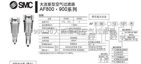 af900-20空气过滤器,供应smc大流量型空气过滤器